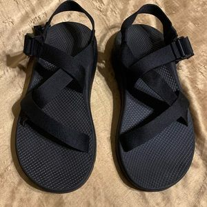 Chaco Sandals Mens 12 Soft Footbed Black